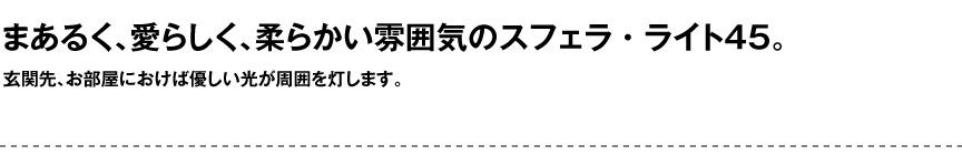 ライト【スフェラ45屋内】