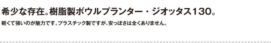伝統樹脂【ジオッタス130】