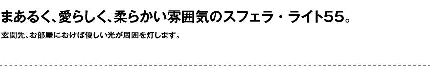 ライト【スフェラライト55屋内】