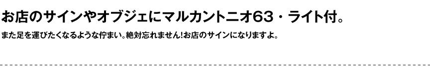 ライト【マルカントニオライト63屋内】