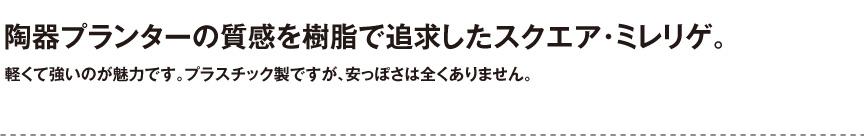 伝統樹脂【スクエア・ミレリゲ】