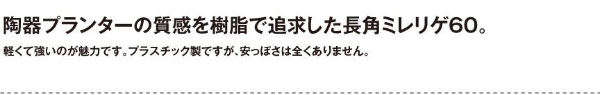 伝統樹脂【長角ミレリゲ60】
