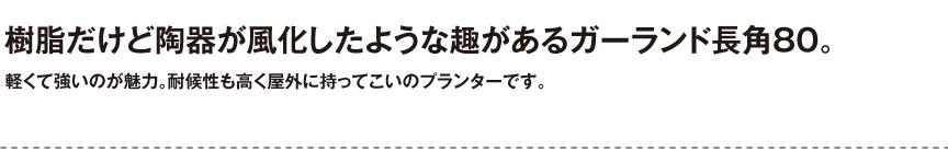 伝統樹脂【ガーランド長角80】