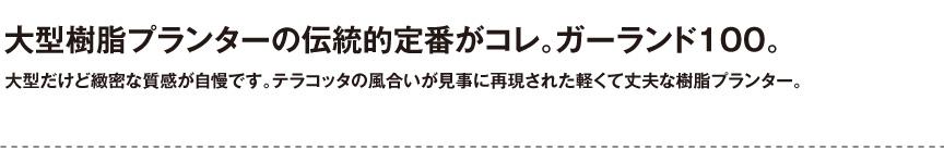伝統樹脂【ガーランド100】